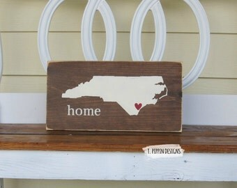 Wilmington North Carolina Home Sign, Wilmington, Hampstead NC Home Sign, Hand Painted Sign