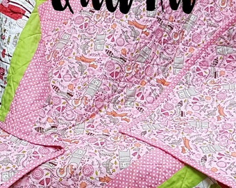 Quilt Kit for Infant-Toddler Quilt in the Just Another Walk in the Woods Collection by Stacy Iest Hsu for Moda