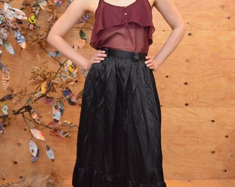 Beautiful Vintage Sheer Tank In Maroon Burgundy Loose Fit Spaghetti Straps Romantic Blouse Size S/M