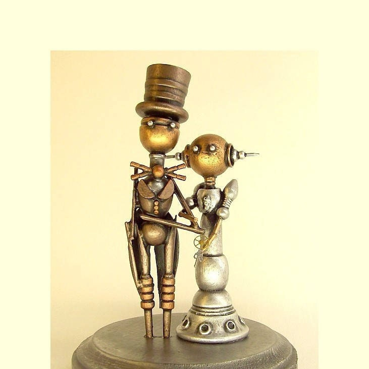 Handmade Wedding Cake Topper Unique Bride and Groom Wood Figures in ...