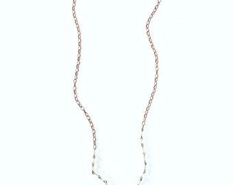 Vintage Crystal Necklace, chandelier crystal necklace