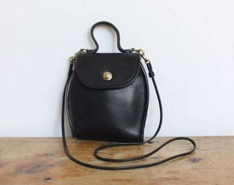Vintage Coach Bag // Coach Derby Black 9904 RARE // Crossbody Purse Handbag