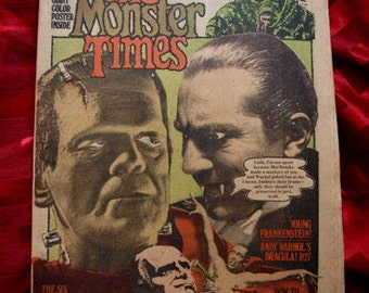 The Monster Times 1975 No 41 Young Frankenstein Andy Warhol Dracula Mummy Werewolf It The Terror Vul-Con Star Trek Comic Horror