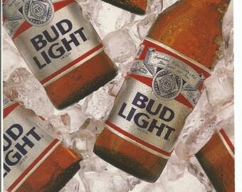 Bud Light Beer Etsy