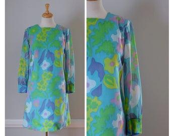 60s Mod Pastel Sheath Dress