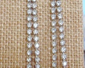 Rhinestone Bridal Jewelry, Chandelier Earrings, Night Out Earrings, Prom Night Earrings, Newer Vintage Earrings, Crystal Earrings