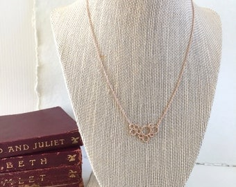 Bubble Necklace in Rose Gold or Gold, Delicate Necklace, Layering Necklace, Simple Jewelry, Circle Necklace