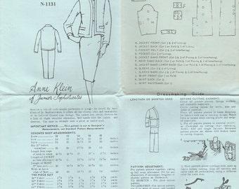 Anne Klein Suit Pattern Spadea N-1131 Size 14 Uncut