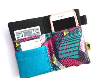 Festival wallet, iphone wallet, samsung galaxy wallet, pink wallet, boho wallet festival accessory gift for woman teen gift clutch wristlet