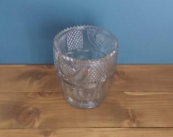 Rare Antique Large Cut Glass Tea Caddy Bowl c1820