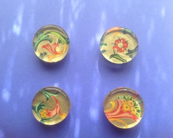 Four Glass Magnets