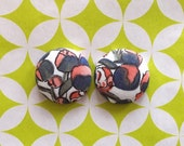 Fabric Button Earrings / Studs / Wholesale Jewelry / Hypoallergenic / Bridesmaid Gifts / Nickel Free / Made in NYC / Liberty of London