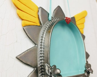 Sunburst  Wall Altar- Metallic with Love and Wings