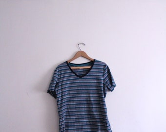 Navy Striped 90s Basic Tee