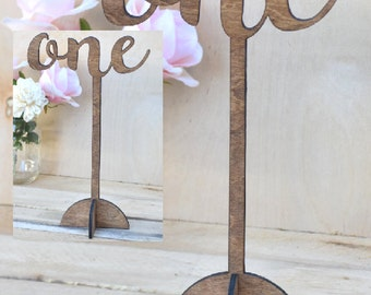 Free Standing Table Numbers - Wedding Table Numbers - Wooden Table Numbers - Calligraphy Table Numbers - Table Numbers for Wedding