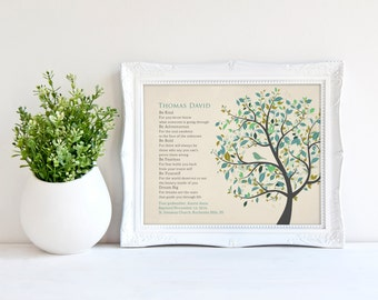 Personalized Baptism Gift from Godparents Christening Gift for Godson Baby Boys Baptism Gift for Godson New Baby Boy Nursery Print