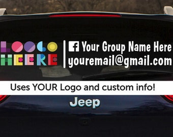 Custom car decal,  Custom retailer decal, , business cards, RockingJay, Rocking Jay