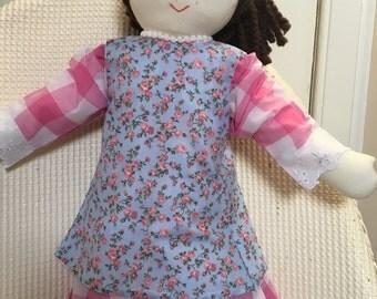 Rag Doll, Hand Made Cloth Doll, Dressed Doll