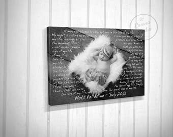 Gift for Father, Canvas art for Father, Father's Day present, Special canvas gift, canvas print photo, canvas and quote, custom father gift