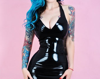 "Latex halterneck dress ""Trisha"""