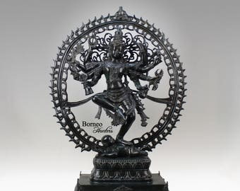 """Bronze Dancing SHIVA 27""""Urthava Tandava Shiva Statue;Destroyer Of Ignorance In The World;New Life & Renewal;Cosmic Dance In A Ring Of Fire"""