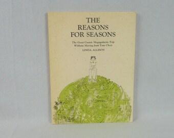 1975 The Reasons For Seasons - Linda Allison - Brown Paper School - Vintage 1970s - Kids Science Book
