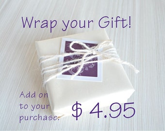 Gift Box and Gift Wrapping with a Personalized Note Card