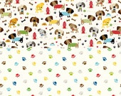 Puppy Dogs and Paw Prints - 2 Fabric Bundle