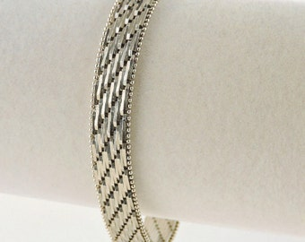 "Sterling Silver Textured Wide Bracelet 7 1/4"" (21.9 grams)"