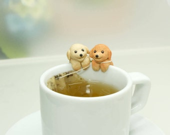 Toy Poodle Tea Bag Holder - Poodle Tea bag Holder - Poodle Gift - Drinking  Pets