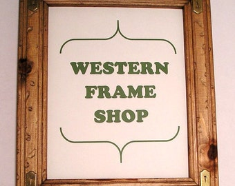 Rustic Picture Frame with Western Corners. Country, Cowboy, Western Photo Frame. Handmade Rustic Picture Frame, Craft or Lodge decor