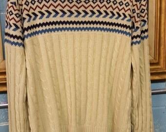 Cute Geometric Chest Sweater