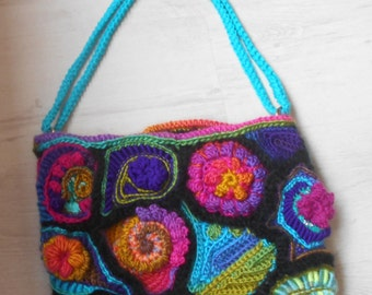 Crochet Handbag Freeform wearable art