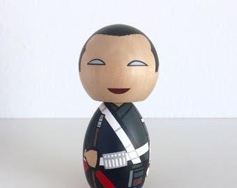Kokeshi Doll. Chirrut Imwe Star Wars Rogue one