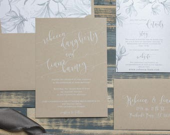 Simple wedding invitations rustic wedding invitations heart for Wedding invitations 50 cents each