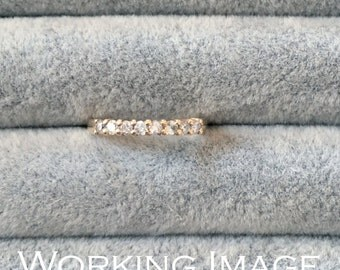 Vintage 14K Yellow Gold Diamond Band