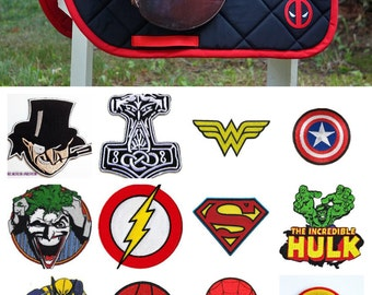 MADE TO ORDER Superheroes and Villains Saddle Pad - Iron Man, Superman, Batman, Hulk