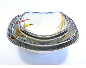 Japanese Porcelain Nesting Bowls