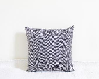 Black Chevron Knit pillow