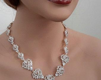 Glistening Rhinestone Necklace