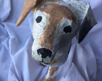 Unique Handmade Paper Mache Dog