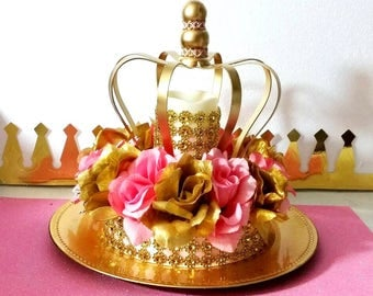 NEW Royal Princess Baby Shower CROWN Centerpiece /Girls Royal Pink And Gold Baby  Shower Theme