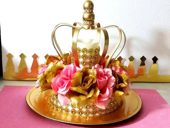 NEW Royal Princess Baby Shower CROWN Centerpiece /Girls Royal