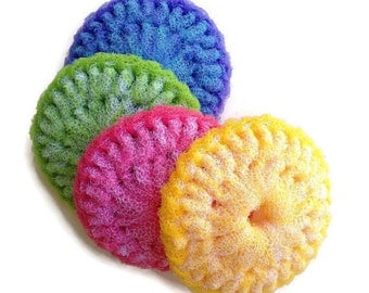 Extra Large Double Thick  Nylon Dish Scrubbies... 2 Through 6 Colorful Dish scrubbers, You Choose the Colors You Want, Housewarming, Gift