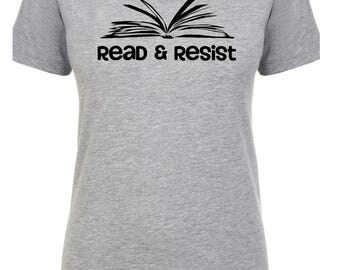 Librarian Shirt, Read and Resist T Shirt, She Persisted Shirt, Feminist Shirt, Warren Shirt, Nevertheless T-shirt, Nevertheless Tee, Library