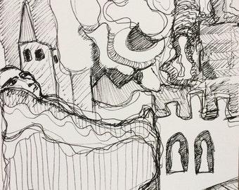 "Original drawing 8""x8"""