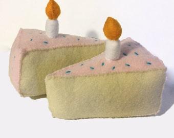 Birthday Cake Slice Catnip Cat Toy - Happy Birthday Kitty!