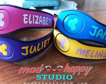 Magic Band Vinyl Decal - Names/ Monograms/ Custom Ears with Initial/ Letters