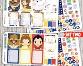 Beauty and the Beast Mini Planner Kit / Planner Stickers for use with the Erin Condren LifePlanner(TM)