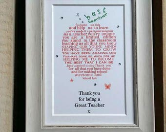 Teacher gift, Personalized Teacher gift, Gifts for Teachers, Teacher appreciation gift, Teacher Thank you gift, Teacher gift personalised